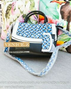 BNWT-GUESS-COOL-MIX-Handbag-Shoulder-Bag-Satchel-Tote-Blue-Multi