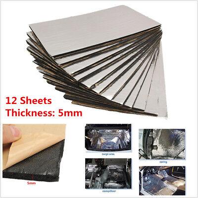 12pcs Car Firewall Sound Deadener Heat Insulation Deadening Material Mat Pad 5mm