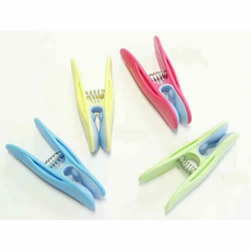 None Marking  1478-5 50 CLOTHES PEGS Deluxe with Soft Grip Pads