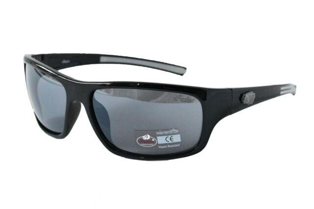 d584b8b066bc Indian Motorcycle Sunglasses Biker Unisex 100% UV400 Impact Resistant Frame  Wrap