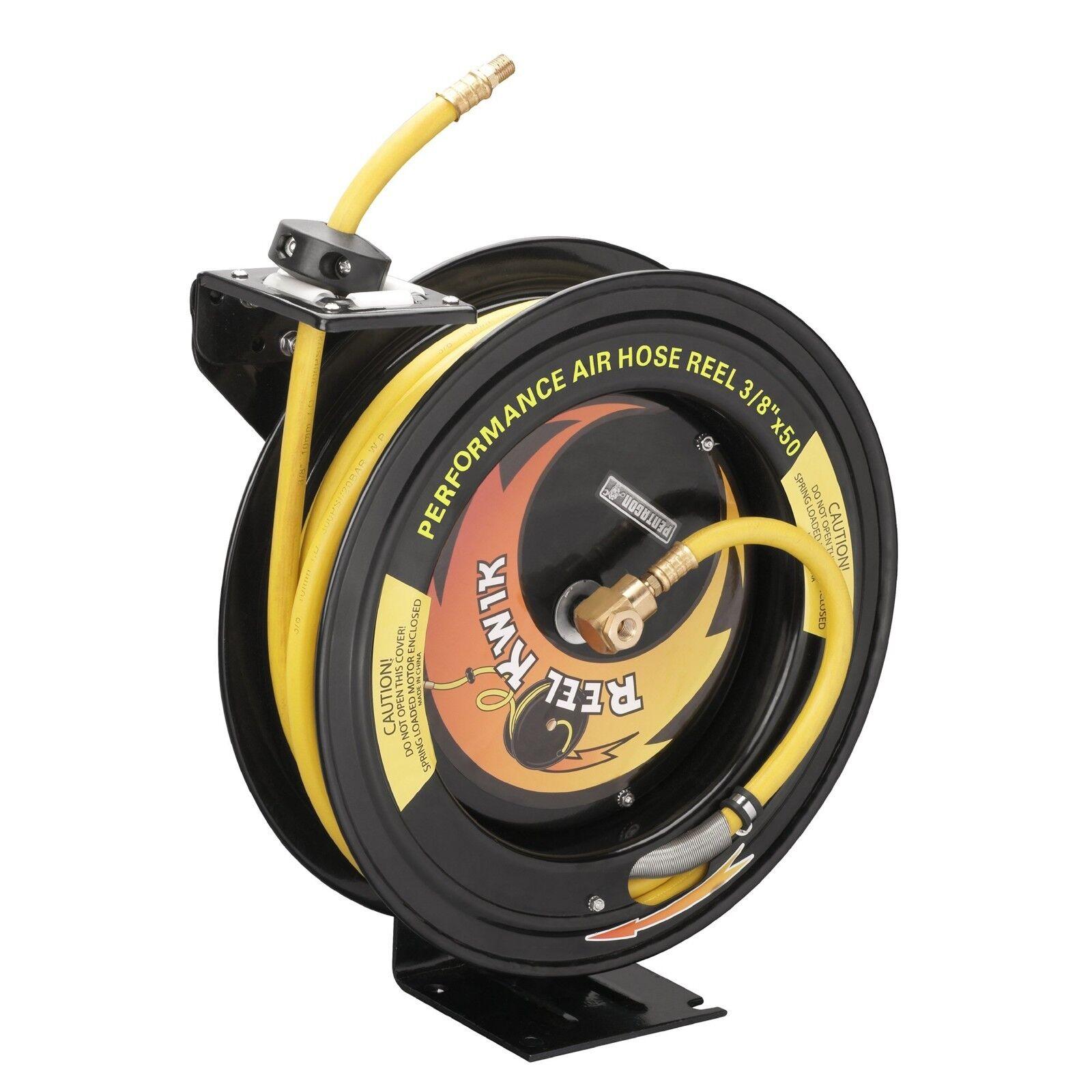 Compressed Air Hose Reel 50' 3 8 Retractable 300psi Auto Rewind Garage Shop Tool