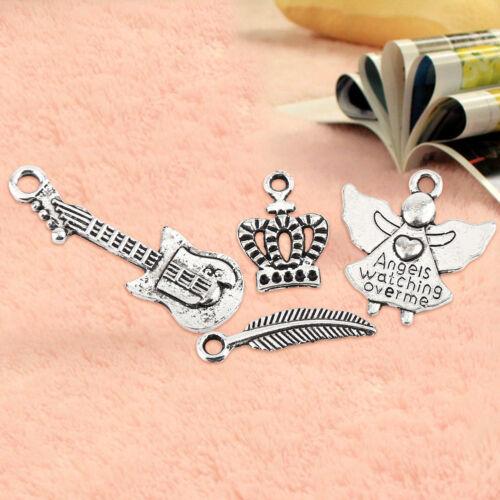 Wholesale 100//200//300pcs BulkTibetan Silver Mix Charm Pendants Jewelry DIY il