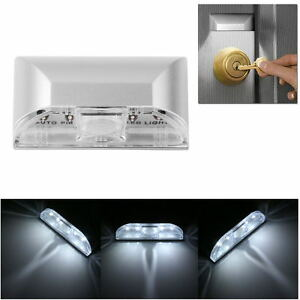 LED-Auto-PIR-Capteur-Sans-Fil-detecteur-lumiere-Mur-Porte-Trou-de-serrure-Lampe