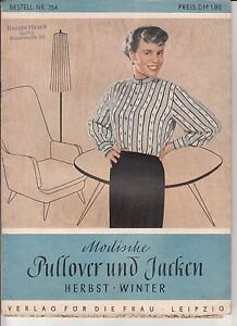 Zeitschrift-Modische-Pullower-amp-Jacken-Herbst-Winter-1970-Schnittmuster