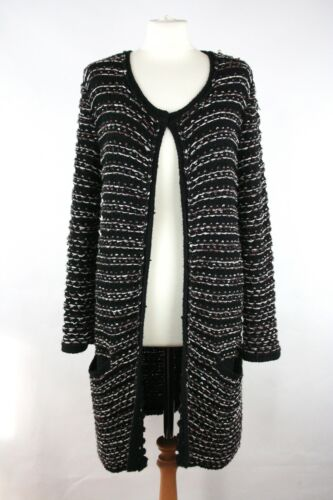 Maje Metallic Memory Boucle Women's Size Knit 2 Cardigan rBEdCoeQxW