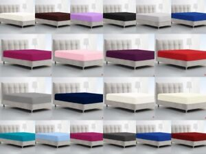 Fitted-Sheets-Luxury-Percale-Deep-Bed-Sheet-Single-Double-King-Super-King-Size