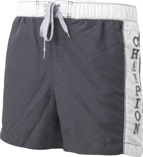 Champion Logo Mens Swim Shorts Grey