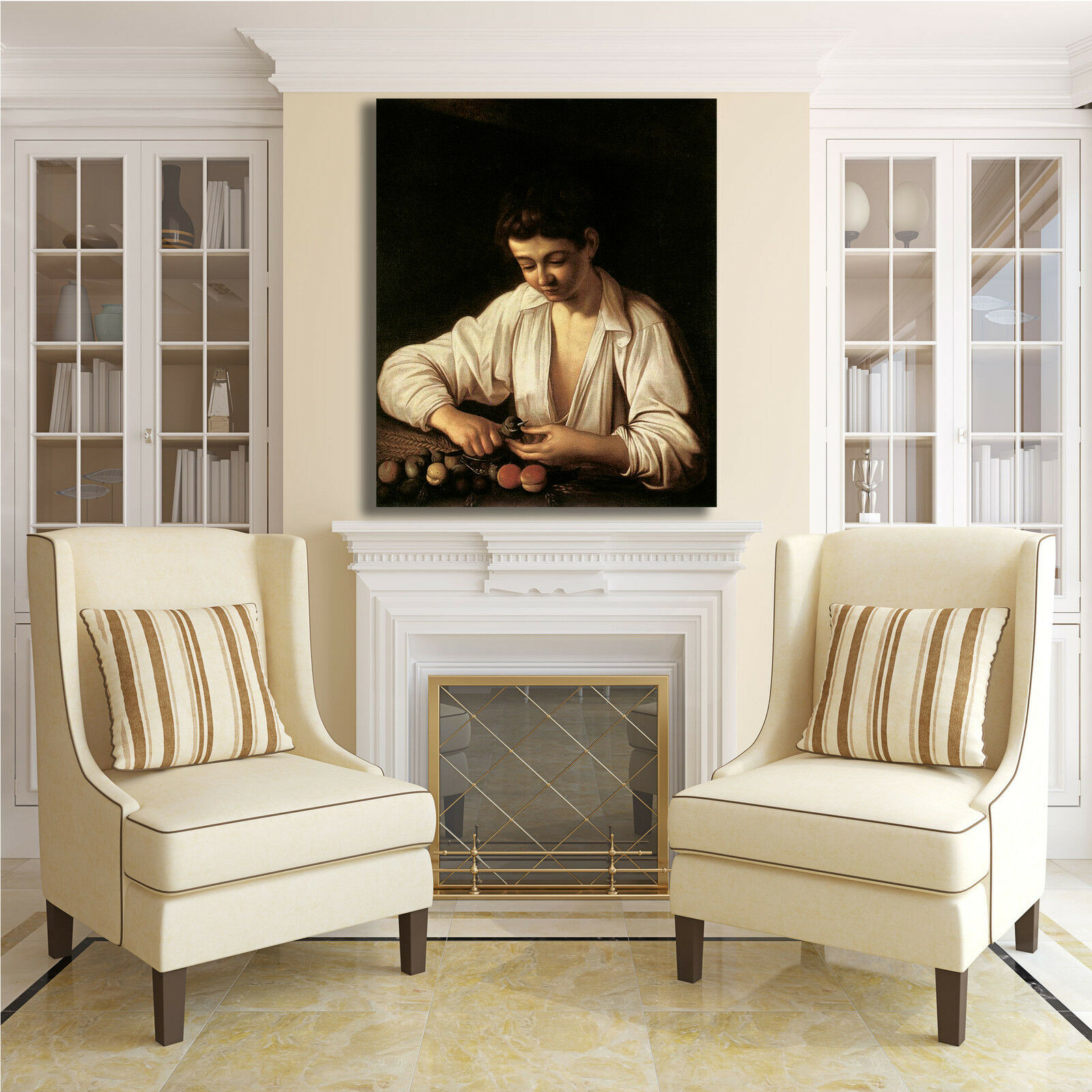 Caravaggio ragazzo monda monda monda frutto quadro stampa tela dipinto telaio arRouge o casa 5abee2
