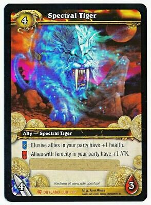 Spectral Tiger Loot card Scratched Fires of Outland World of Warcraft WOW TCG
