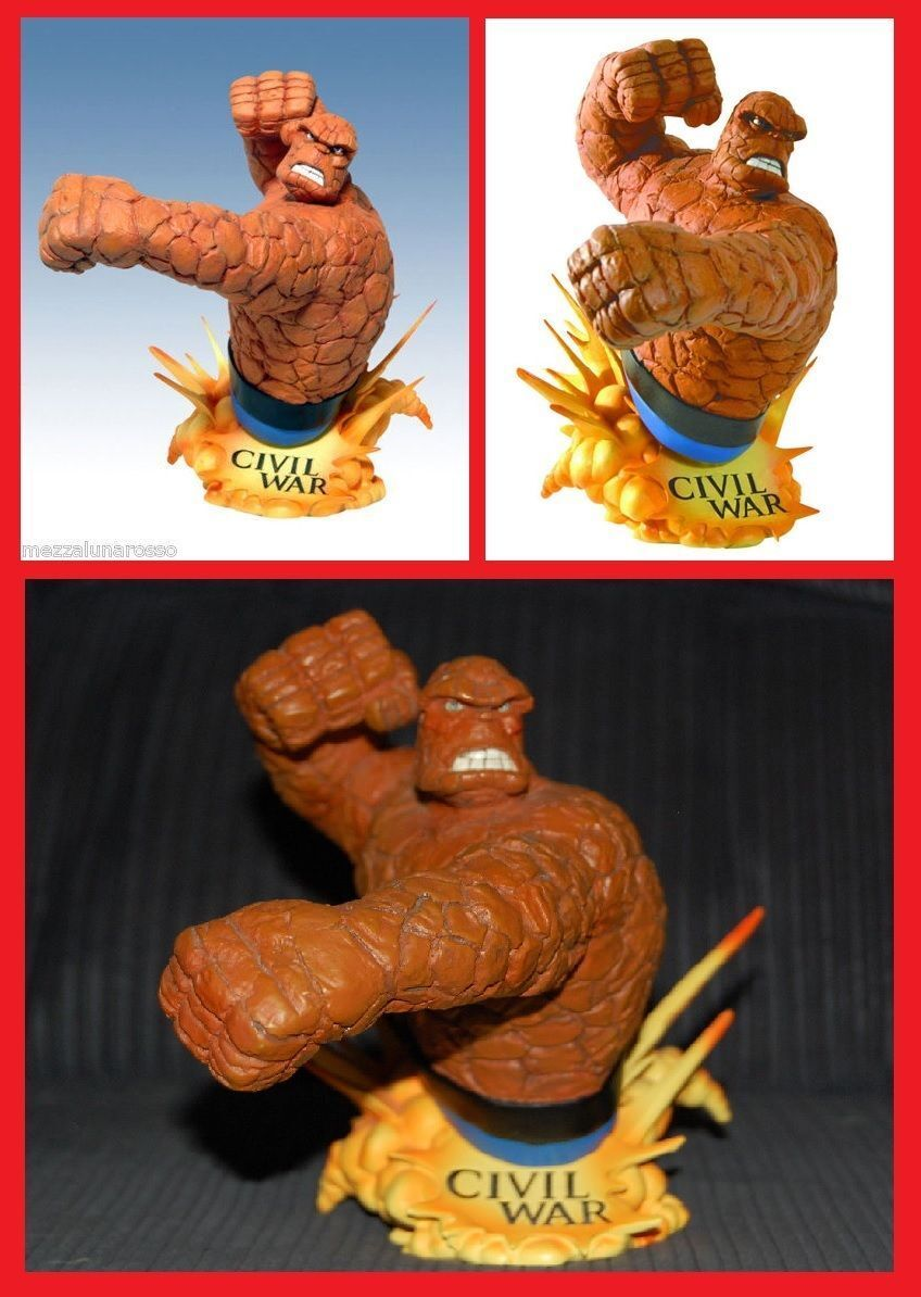 CIVIL WAR Buste La Chose The Thing Four Fantastic Four Thing Diamond Select Bust 4 447f18