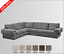 New WOW EXTRA EXTRA LARGE VERONA Corner Sofa Velour Fabric SilverGrey