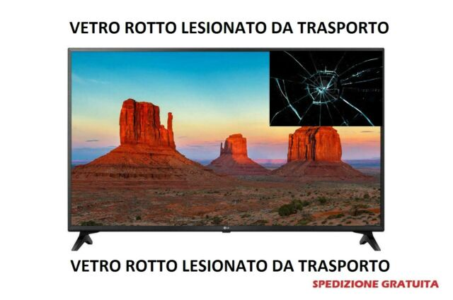 LG 43UK6200 Tv Vetro Rotto Led 43'' Ultra Hd 4k Smart Tv Wi-Fi Hdr