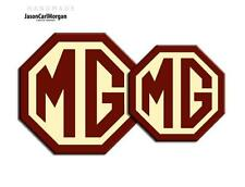 MG TF LE500 MK2 2009 on Badge Inserts Front Rear MG 70mm 90mm Burgundy Cream