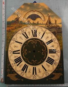 HANDPAINTED-REPLACEMENT-DIAL-FOR-LARGE-DUTCH-FRIESIAN-TAIL-WALL-CLOCK-1