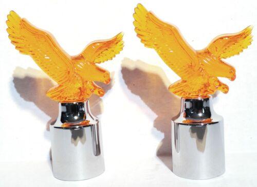 """bumper guide tops eagle amber for Kenworth Peterbilt Freightliner IHC 1/"""" I.D."""