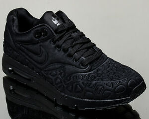 Details about Nike WMNS Air Max 1 Ultra Plush women sneakers black Last size 6 US 844882 001