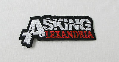 ASKING ALEXANDRIA Red Iron On Sew On Embroidered Patch Rock heavy metal
