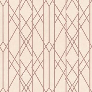Rasch-Portefeuille-Lineaire-Papier-Peint-Geometrique-Rose-Dore-Rose-215106