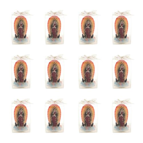 Mega Candles Set of 12 Lady Guadalupe Statue Candles