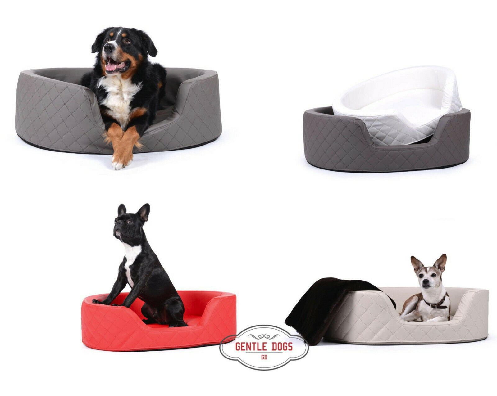 Hundebett, Hundesofa Modell London Kunstleder von Padsforall gratis Versand