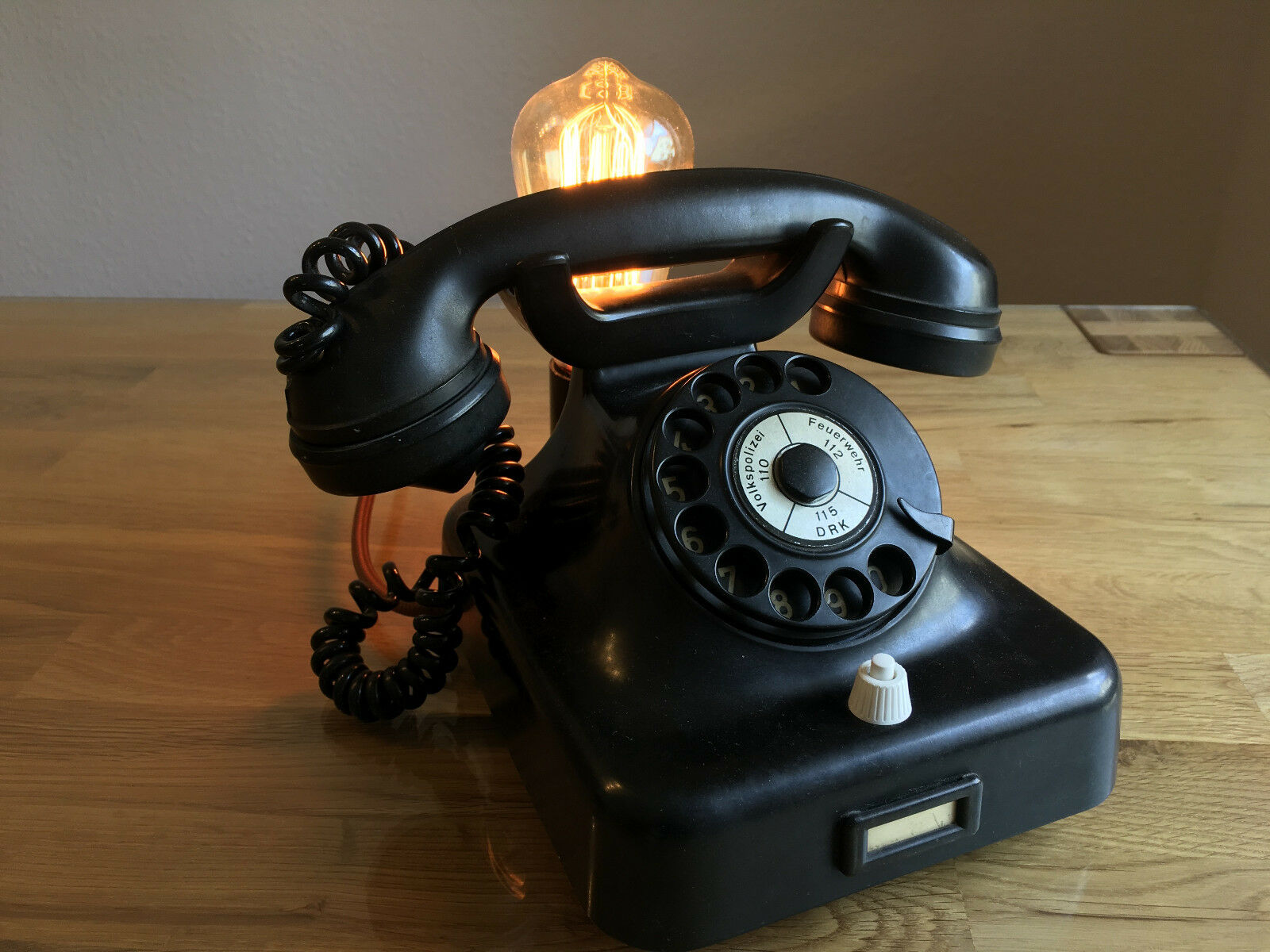 EINMALIG Edison Bulb Lamp Vintage steam punk, Telefon, Retro Leuchte Lampe