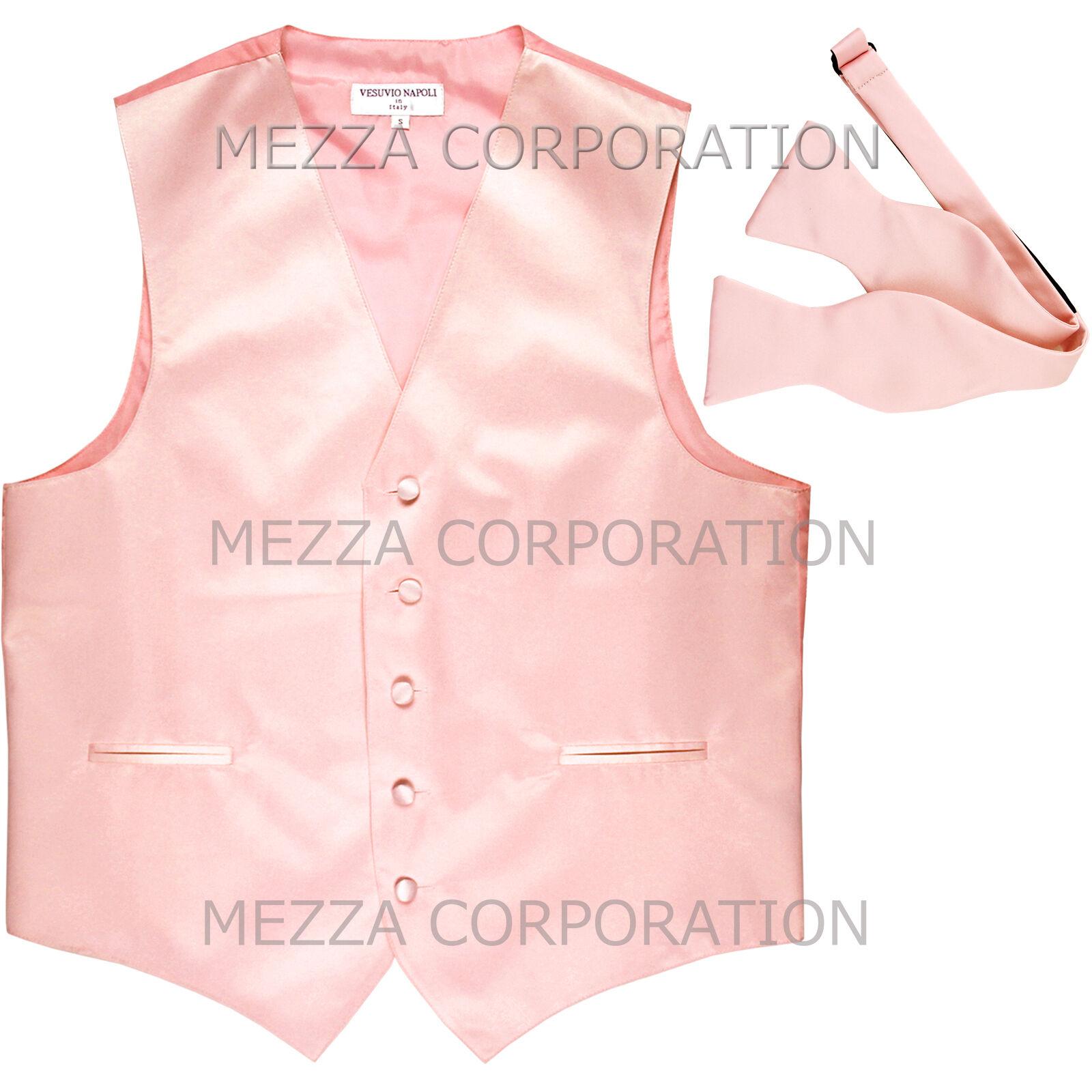 New Men's Formal Vest Tuxedo Waistcoat with free style self-tie Bowtie navy blue