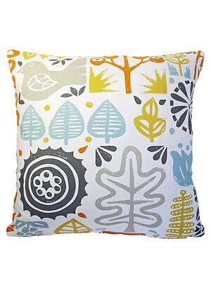 Harlequin SCION Woodland Scandinavian vtg/Retro 60s  Fabric Cushion Cover-BLUE