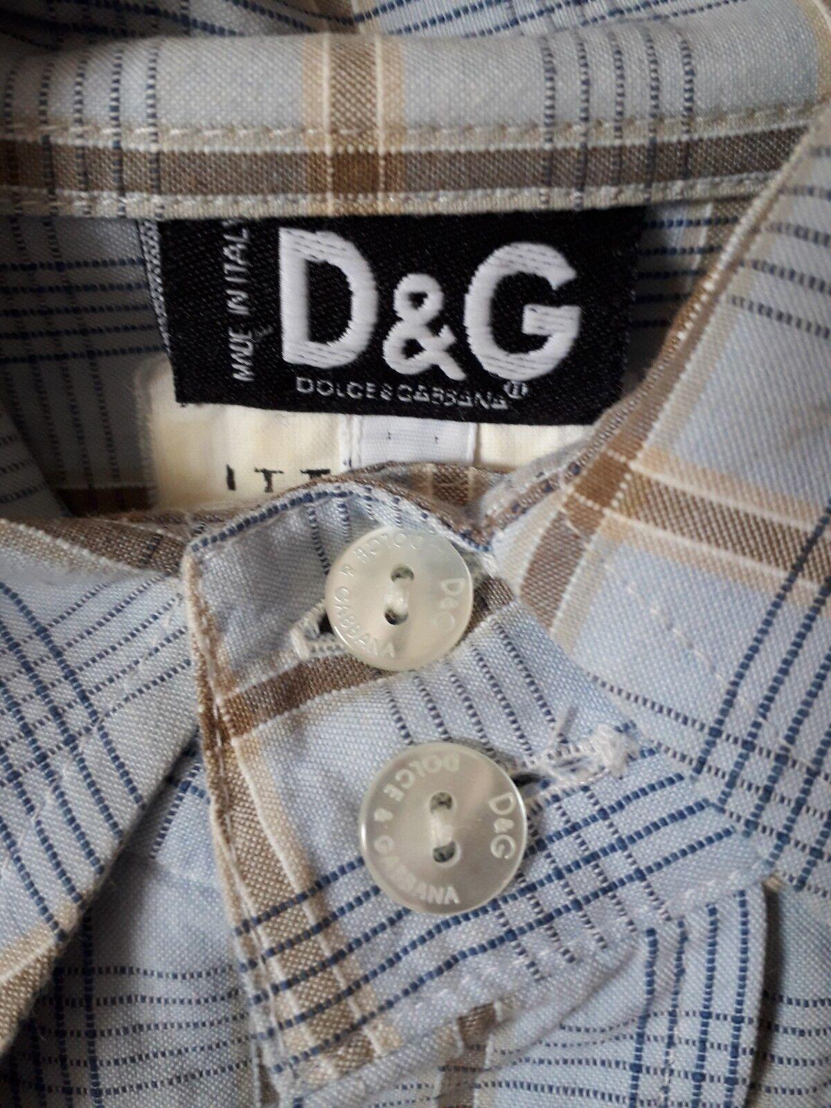 Vintage & Camicia Dolce & Vintage Gabbana Originale Unica Introvabile Bottone D&G b75ee3