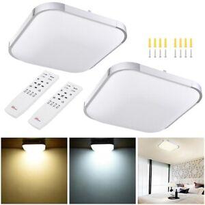 2x 36W LED Ceiling Light Flush Mount Kitchen Home Fixture Lamp Remote Control US