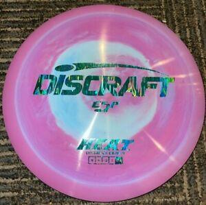 NEW DISCRAFT SWIRLY ESP HEAT DISC GOLF DRIVER PURPLE / BLUE 173-4G @ LSDISCS