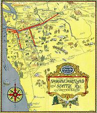 "12/"" x 24/"" 1891 Map Of Norfolk Albermarle /& Atlantic Railroad /& Connections"