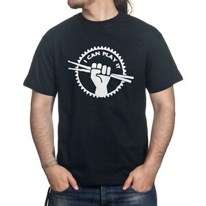 i can play it drummer drum stick rock metal pearl cymbal t shirt pr141. Black Bedroom Furniture Sets. Home Design Ideas