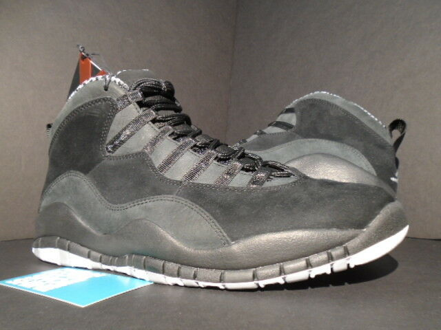 2012 NIKE AIR JORDAN X 10 RETRO BLACK WHITE STEEL STEALTH GREY 310805-003 DS 8.5