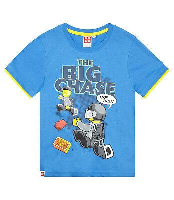 Boys Kids Official Lego City Police Blue Short Sleeve T Shirt Top