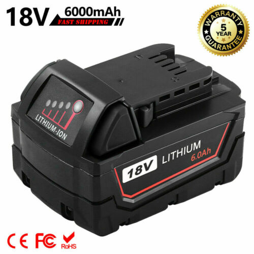 Replace For Milwaukee 18Volt 48-11-1852 M18 Lithium 6.0Ah XC Battery48-11-1862