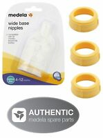 Medela Bottle Nipples Slow Or Medium Flow & Collars Collar Rings Ring Nipple