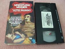 Rock'n Roll Wrestling Women Vs. the Aztec Mummy (VHS, 1986 RHINO BOX)