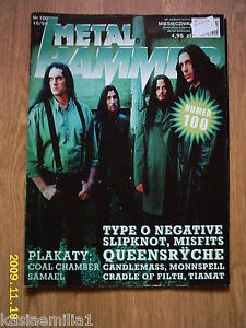 TYPE O NEGATIVE on front cover Metal Hammer 10/1999 Polish magazine -  Wałbrzych, Polska - TYPE O NEGATIVE on front cover Metal Hammer 10/1999 Polish magazine -  Wałbrzych, Polska