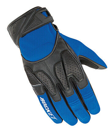 Joe Rocket Atomic X2 Short Motorcycle Gloves BLACK BLUE SHIPS FREE