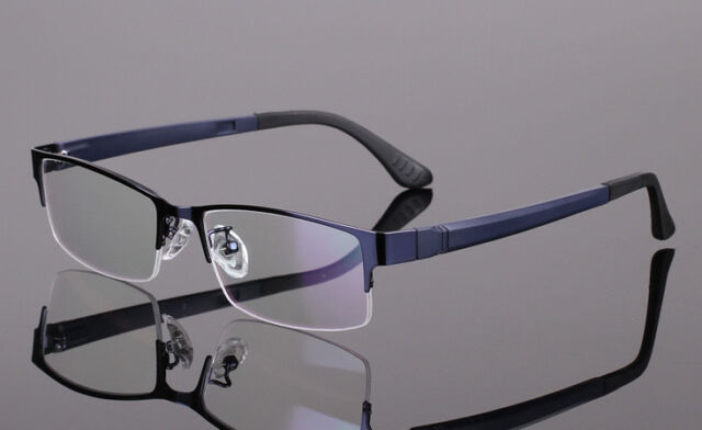 Men Women Metal Half rimless Glasses Optical Eyeglasses Frame Spectacles Eyewear