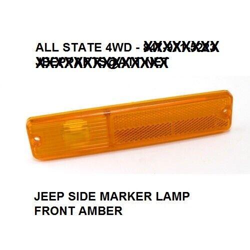 72-86 JEEP CJ CJ-5 CJ-7 CJ-8 CHEROKEE SIDE MARKER LIGHT HOUSING LENS FRONT AMBER