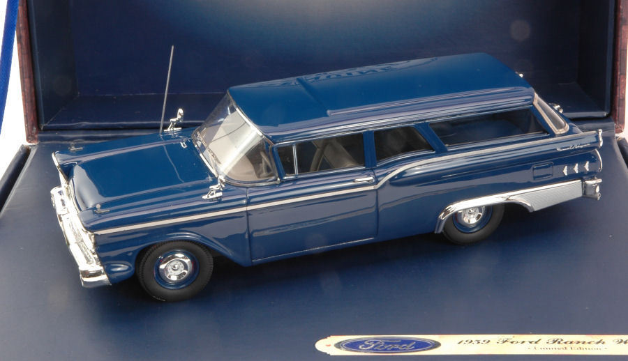 Ford Ranch Wagon blå Metallic 1959 1 43 Förlaga FORD GENUIN PkonstS