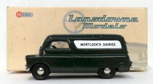 Lansdowne-Modelos-Escala-1-43-LDM39-1965-BEDFORD-CA-VAN-Mortlock-039-s-lacteas-Verde