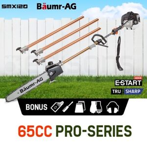 【EXTRA10%OFF】Baumr-AG 65CC Pole Chainsaw Saw Petrol Chain Tree Pruner