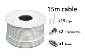 15-M-Blanc-RG6-Satellite-TV-numeriques-Freeview-Sky-HD-Antenne-Cable-coaxial-Coaxial
