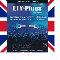 Musicians Earplugs Etymotic ER20 ETYPLUGS - 1 Pair Standard fit Ear Protection