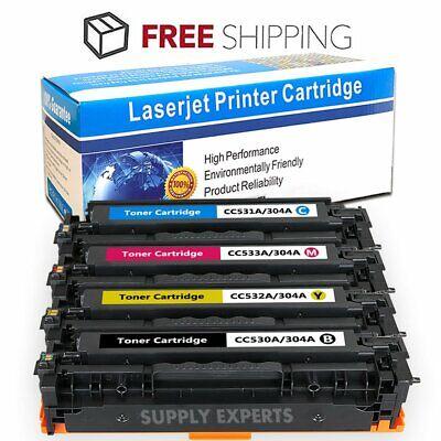 CC531A CC532A CC533A 3PK Color Toner Set CYM For HP 304A Laserjet CP2025 CM2320