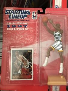 NEW 1997 NBA Starting Lineup REGGIE MILLER Indiana Pacers w/ Topps Card in VGC