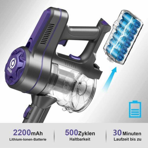 ONSON Akku-Staubsauger 20 kPa Saugeinstellstab Vakuum 4 IN 1 Zu 45 mins 250W