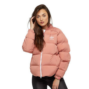 Details about adidas Originals Womens SST Superstar Down Padded Coat Pink Puffa Bomber Jacket